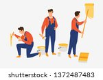 high quality basic poses set of ... | Shutterstock .eps vector #1372487483