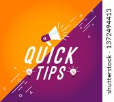 quick tips colorful banner... | Shutterstock .eps vector #1372494413