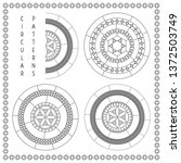 circular linear pattern with...   Shutterstock .eps vector #1372503749