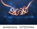 2020 new year shiny vector... | Shutterstock .eps vector #1372513466