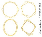 geometric polygonal frames  ... | Shutterstock .eps vector #1372521233