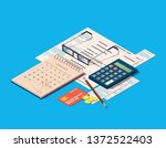 financial or business... | Shutterstock .eps vector #1372522403