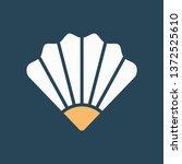 silhouette icon seashell | Shutterstock .eps vector #1372525610