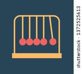 silhouette icon newtons cradle | Shutterstock .eps vector #1372525613