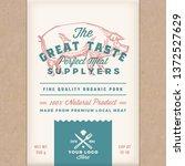 great taste perfect pork.... | Shutterstock .eps vector #1372527629