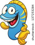 cute cartoon fish. vector clip... | Shutterstock .eps vector #137253284
