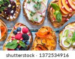 flat lay of small open faced... | Shutterstock . vector #1372534916
