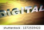 3d model digital versus... | Shutterstock . vector #1372535423