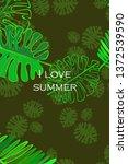 leaves of tropical plants....   Shutterstock .eps vector #1372539590