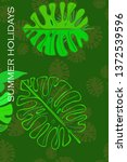 leaves of tropical plants....   Shutterstock .eps vector #1372539596