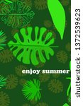 leaves of tropical plants....   Shutterstock .eps vector #1372539623