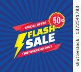 flash sale   concept promotion...   Shutterstock .eps vector #1372541783