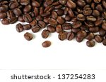 a coffee background | Shutterstock . vector #137254283