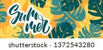 colorful summer banner with... | Shutterstock .eps vector #1372543280