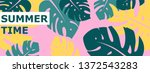 colorful summer banner with... | Shutterstock .eps vector #1372543283