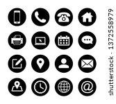 web icons set. web design icon. ... | Shutterstock .eps vector #1372558979