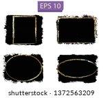 set of black paint  brush... | Shutterstock .eps vector #1372563209