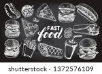 ink hand drawn set of various... | Shutterstock .eps vector #1372576109