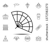 mardi gras  fan icon. simple...