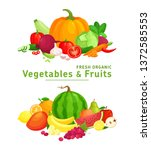 vector illustration with fresh... | Shutterstock .eps vector #1372585553