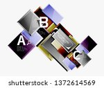 square geometric composition ...   Shutterstock .eps vector #1372614569