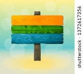 vector graphic old wood board...   Shutterstock .eps vector #1372617356