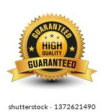 vector high quality guaranteed... | Shutterstock .eps vector #1372621490