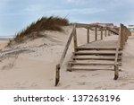 Wooden Footpath Through Dunes...