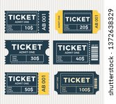 ticket set icon  vector... | Shutterstock .eps vector #1372638329