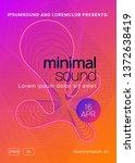 music flyer. dynamic gradient... | Shutterstock .eps vector #1372638419