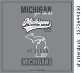 michigan  michigan state slogan ... | Shutterstock .eps vector #1372644350