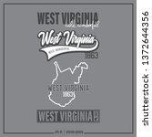 west virginia  west virginia...   Shutterstock .eps vector #1372644356