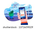 airport terminal. planning... | Shutterstock .eps vector #1372659029