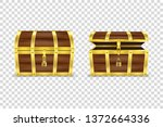vector 3d realistic closed and... | Shutterstock .eps vector #1372664336