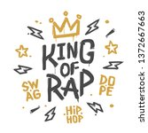 king of rap graffiti street art ... | Shutterstock .eps vector #1372667663