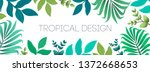 colorful summer tropical... | Shutterstock .eps vector #1372668653