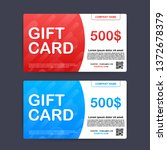 template red and blue gift card.... | Shutterstock .eps vector #1372678379