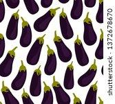 eggplant seamless pattern on... | Shutterstock .eps vector #1372678670