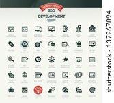 seo and development icon set | Shutterstock .eps vector #137267894