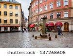 stockholm   apr 13  jarntorget... | Shutterstock . vector #137268608