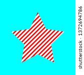 red white striped star. vector...