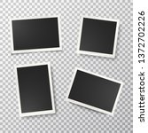 photo frames set on transparent ... | Shutterstock .eps vector #1372702226