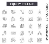eququity release line icons ... | Shutterstock .eps vector #1372704380