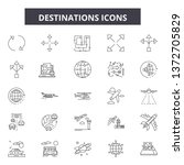 destinations line icons  signs  ... | Shutterstock .eps vector #1372705829
