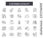 customer loyality line icons ... | Shutterstock .eps vector #1372706939