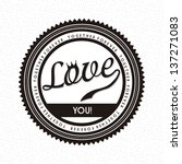 love label over white... | Shutterstock .eps vector #137271083