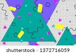 90s pattern. memphis trend....   Shutterstock .eps vector #1372716059