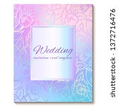 colorful pastel blue violet...   Shutterstock .eps vector #1372716476