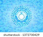 diamond ring icon inside light... | Shutterstock .eps vector #1372730429