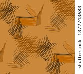 various pen hatches. seamless... | Shutterstock .eps vector #1372743683